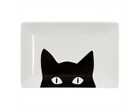 Living & Giving Annabel Trends Black Cat Dish