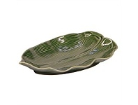 Living & Giving Leaf Plate Small Green