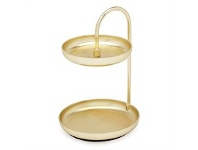 Living & Giving Umbra Poise Two Teir Jewellery Tray Brass