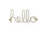 Living & Giving Umbra Wired Hello Wall Art Brass