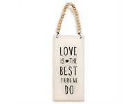 Living & Giving Love Best Thing Ceramic Plaque Wall Art 19cm