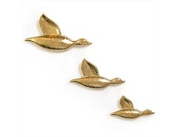 Living & Giving Wall Ducks Trio Champagne Set of 3