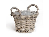 Living & Giving Lined Willow Basket Extra Small 12x9cm