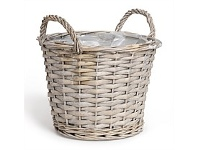 Living & Giving Lined Willow Basket Large 24x18cm