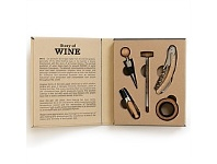 Living & Giving Wine Serving Set in Book 5 Piece