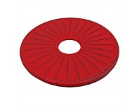 Living & Giving Cast Iron Ribbed Trivet Red & Black