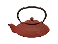 Living & Giving Cast Iron Fine Hobnail Teapot Red 800ml