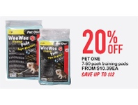 Petstock NZ Pet One 7-50 Pack Training Pads