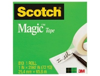 Officeworks Scotch Magic 810 Invisible Adhesive Tape 24mm x 66m