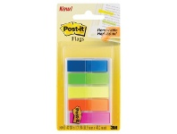 3M Post-it Translucent Flags Assorted 5 Pack