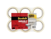 Officeworks Scotch General Purpose Packaging Tape 48mm x 75m 6 Pack