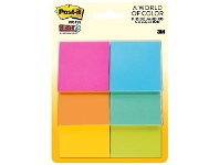 Officeworks Post-It Super Sticky Notes 51X51mm Assorted Colour 6 Pack