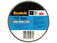 Officeworks Scotch PVC Duct Tape 48mm x 30m Silver