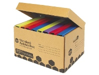 Officeworks Marbig Enviro Standard Archive Box with Attached Lid 10 Pack