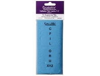 Officeworks Crystalfile Indicator Tab Inserts A-Z Blue 60 Pack