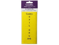 Officeworks Crystalfile Indicator Tab Inserts A-Z Yellow 60 Pack
