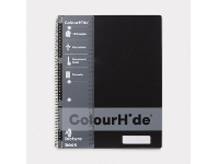 Officeworks ColourHide A4 Lecture Book 140 Pages Black