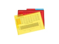 Officeworks Marbig A4 Letter Files with Flap Assorted 3 Pack