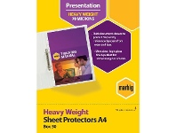 Officeworks Marbig A4 Heavy Weight Sheet Protector 50 Pack