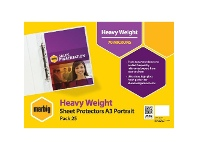 Officeworks Marbig A3 Heavy Weight Portrait Sheet Protector 25 Pack