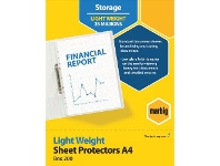 Officeworks Marbig A4 Light Weight Sheet Protector 200 Pack