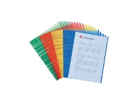 Officeworks Marbig A4 Sheet Protectors with Coloured Edges 20 Pack