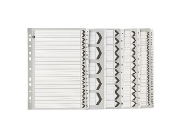 Officeworks Marbig Reinforced A4 A-Z Tab Divider Black and White