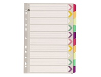 Officeworks Marbig Fluoro Dividers A4 10 Tab
