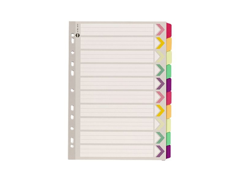 Marbig Fluoro Dividers A4 10 Tab
