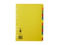 Officeworks Marbig A4 1-12 Dividers Bright Colours