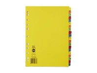 Officeworks Marbig A4 1-20 Dividers Bright Colours