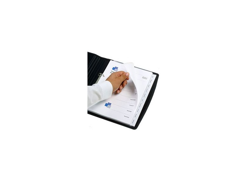 Marbig A4 Transparent Divider with 10 Tab View