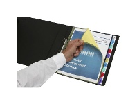 Officeworks Marbig A4 Extra Wide Transparent Divider 10 Tab Colour