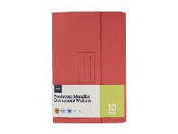 Officeworks J.Burrows Document Wallet Foolscap 240gsm Red 10 Pack
