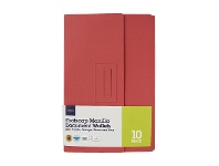 Officeworks J.Burrows Document Wallet Foolscap 240gsm Assorted Colours 10 Pack