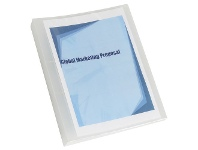 Officeworks Marbig A4 2 D-Ring 25mm Binder with Insert Cover Clear