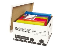 Officeworks Marbig Quickfold Strong Archive Box