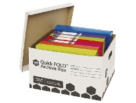 Officeworks Marbig Quickfold Strong Archive Box 10 Pack