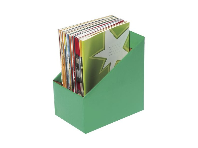 Marbig Book Box Large Green 5 Pack