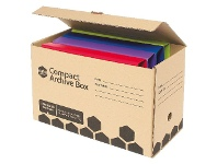 Officeworks Marbig Compact Half Archive Box 2 Pack