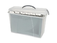 Officeworks Crystalfile Carry Case Foolscap Clear