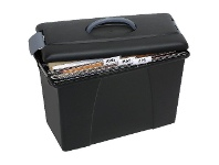 Officeworks Crystalfile Carry Case Black