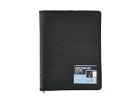 Officeworks Marbig A4 Conference Zip Folio Black