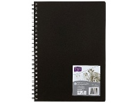 Officeworks Derwent Academy Visual Art Diary 110gsm 120 Pages A4 Black