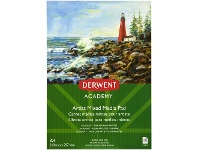 Officeworks Derwent Academy Mixed Media Pad 190gsm 15 Sheets A4