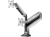 Officeworks Brateck Dual Aluminium Counterbalance Monitor Arm 13-32""