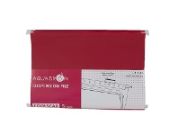 Officeworks Aqua Drops Suspension File Foolscap Red 5 Pack