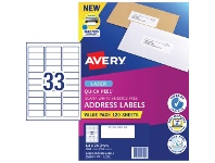 Officeworks Avery 33UP Laser Address Labels with Sure Feed 120 Sheets