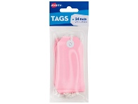 Officeworks Avery Tag with String 96 x 48mm Pink 24 Pack