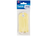 Officeworks Avery Tag with String 96 x 48mm Yellow 24 Pack